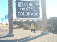 Colorado State Line for my birthday!
