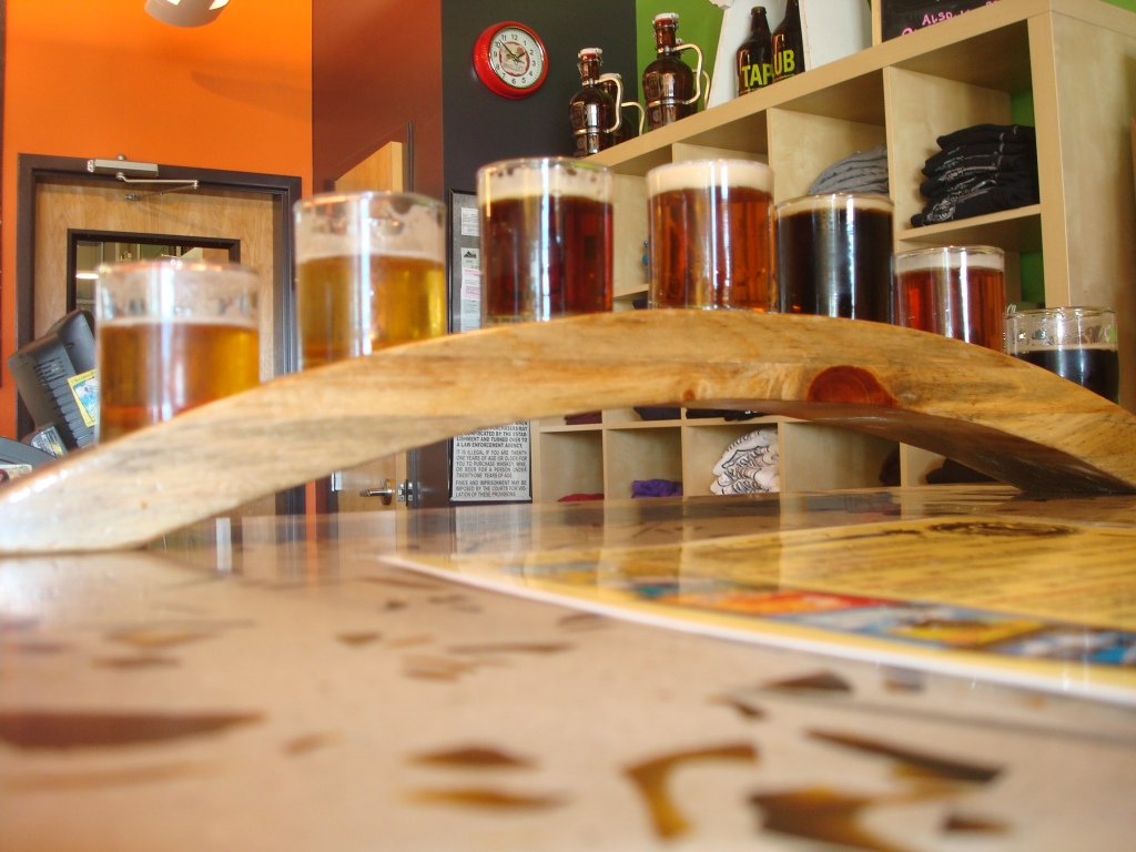 Our first ever beer tasting line up courtesy of the Fort Collins Brewery!